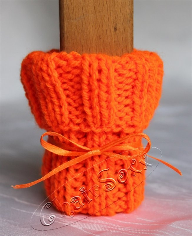 Stuhlsocken Neon-Orange